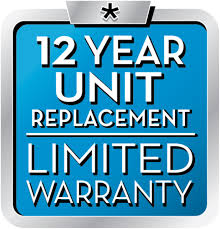 12 Year Unit Replacement Limited Warranty